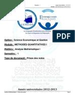 116559681 S1 MQ I Analyses Mathematiques I Prises Des Notes