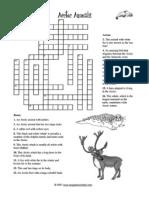 Artic Crossword and Cloze Wrksheet