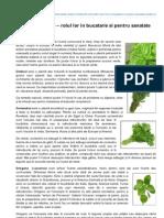 Retete-dukan.ro-ierburile Aromate Rolul Lor in Bucatarie Si Pentru Sanatate Partea II