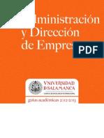 Grado en Administracion y Direccion de Empresas 2012-2013[1]