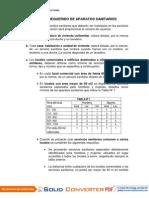 NÚMERO REQUERIDO DE APARATOS SANITARIOS - DIVERSAS EDIFICACIONES