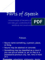 20176668 Parts of Speech
