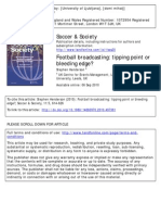 Football Broadcasting - Tipping Point or Bleeding Edge