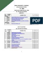 Applied Electronics - 1st semester syllabus
