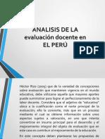 La evaluación docente en el Perú