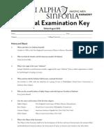 National Exam Key Fall 2012