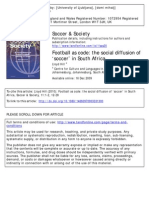 Football as code - the social diffusion of 'soccer' in South Africa