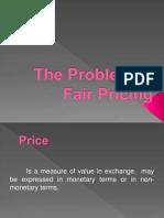 problem in fair pricing
