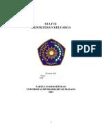 Status Kedokteran Keluarga Revised 15 Jan 2013