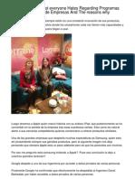 The things Almost all customers Dislikes In Programas de Administración de Empresas And also Reason why.20130212.204409