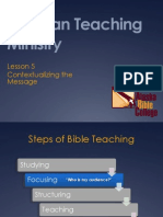 5 Contextualizing the Message
