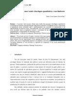 Avaliação de programas sociais abordagens quantitativas e suas limitações