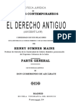 25962727 Sumner Maine Henry El Derecho Antiguo Tomo 1 1893
