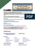 Mental Health Bulletin No 193 February 16th 2009