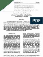Pengaruh Pengeringan Contoh Tanah Terhadap Beberapa Sifat Fisik Dan Kimia Tanah Bersifat Vertik Serta Klasifikanya Menurut Taksonomi Tanah
