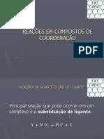 Reacoes Em Compostos de Coordenacao (1)