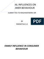 External Influences on Consumer Behaivour1