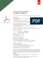 Adobe Acrobat Xi Create PDF Files Tutorial e