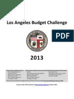 Los Angeles Budget Challenge_2013