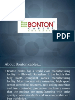 PPTs ON  BONTON CABLES