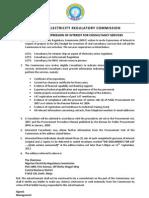 Procurement of Consultancy Services (2012)