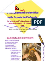 l'Insegnamento scientifico nella Scuola dell'Infanzia