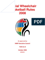 Official Wheelchair Basketball Rules