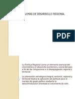 2.- 1.1 Problemas de Desarrollo Regional