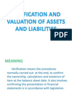 Verification and Valuation of Assets and Liabilities