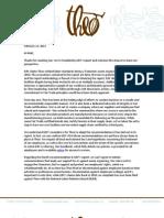Theo Response to ILRF Report