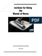 Instructions for Using the Wands of Horus