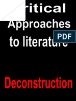 Critical Approaches to Literature [Deconstruction]