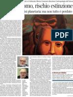 Animale Uomo, Rischio Estinzione. Una Discussione Sull'Antropologia Del Futuro - Corriere Della Sera 13.02.2013