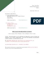 Debt Collector Disclosure Statement