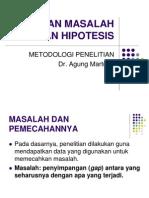 2 Rumusan Masalah Dan Hipotesis