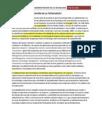 Capítulo 1 - Conceptualizando la adminsitración de la tecnología