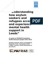 Understanding how asylum seekers and refugees access and experience mental health support in Leeds