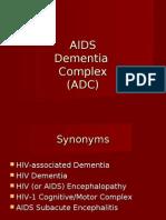 AIDS Dementia Complex (PowerPoint)