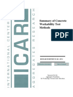 Various Test on Workability