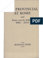 R.syme - The Provincial at Rome and Rome and the Balkans.