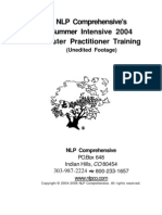 NLP Master Practitioner Manual