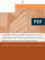 Coordinating Lead Time and Safety Stock Decisions in 2echelon System