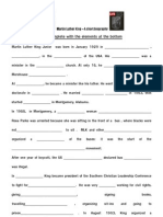 Martin Luther King Biography Gap Exercise