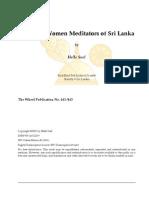 Buddhist Women Meditators of Sri Lanka