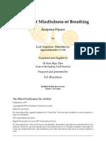 Mindfulness of Manual of Breathing aka Anapana Dipani