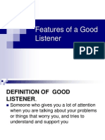 Features of a Good Listner