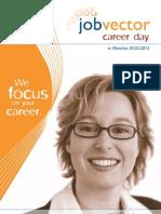 Begleitheft jobvector career day München 2013