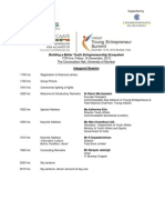 CAAYE Young Entrepreneur Summit, Mumbai ; December 14-15, 2012 - Agenda