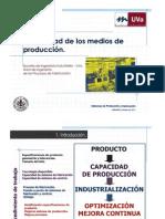 Capacidad en los medios de producción