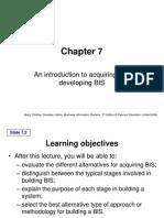 BIS 07 Acquisition and BIS Development